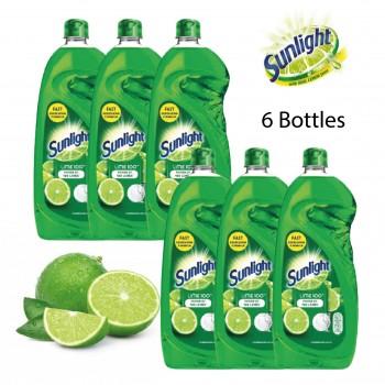 Sunlight Dishwashing Liquid Lime 100 - 900ml Bundle