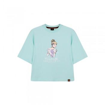 Disney Princess Series: Cinderella Women Tee (Blue, Size XL)
