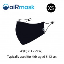aiRmask Nanotech Cotton Mask Black (XS)