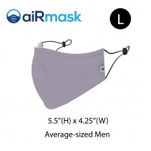 aiRmask Nanotech Cotton Mask Grey (L)
