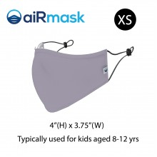aiRmask Nanotech Cotton Mask Grey (XS)