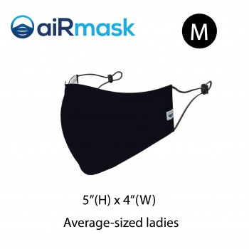 aiRmask Nanotech Cotton Mask Black (M)