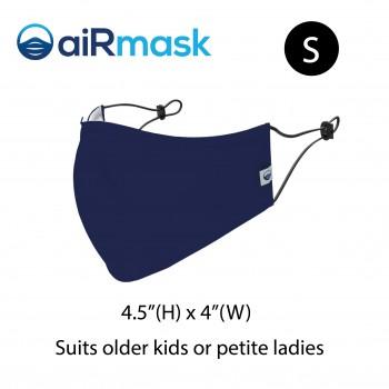 aiRmask Nanotech Cotton Mask Navy Blue (S)