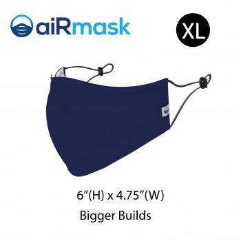 aiRmask Nanotech Cotton Mask Navy Blue (XL)