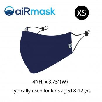 aiRmask Nanotech Cotton Mask Navy Blue (XS)
