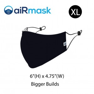 aiRmask Nanotech Cotton Mask Black (XL)