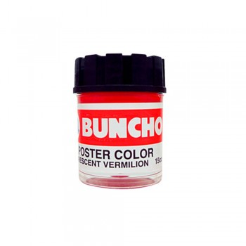 Buncho Poster Color 15CC Fluorescent F11 Vermilion - 6/Box
