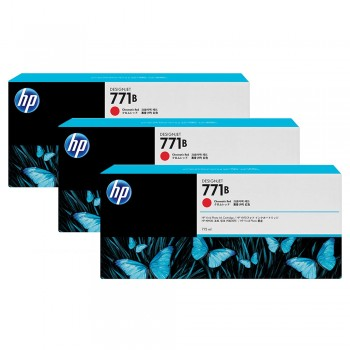 HP 771B 3-pack 775-ml Chromatic Red Designjet Ink Cartridges (B6Y24A)