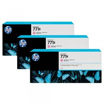 HP 771B 3-pack 775-ml Light Magenta Designjet Ink-Cartridges (B6Y27A)