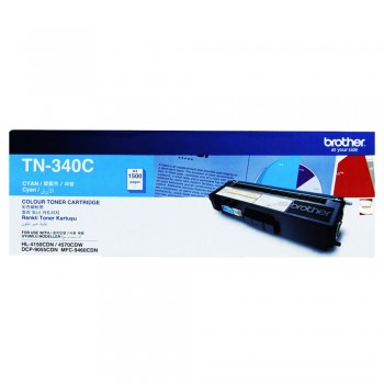 Brother TN-340 Cyan Toner Cartridge 1.5k