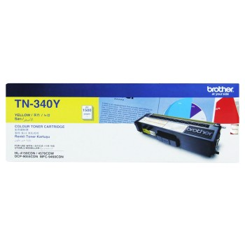 Brother TN-340 Yellow Toner Cartridge 1.5k