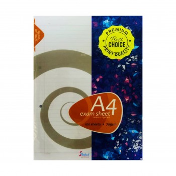 Standard A4 Exam Sheet/ Test Paper 100 sheets