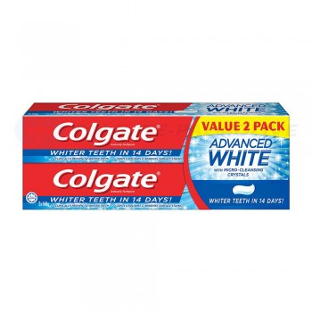 Colgate Advanced White Toothpaste Value Pack 2 x 160g