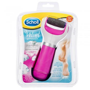 Scholl Velvet Smooth Express Pedi Foot File (Pink)