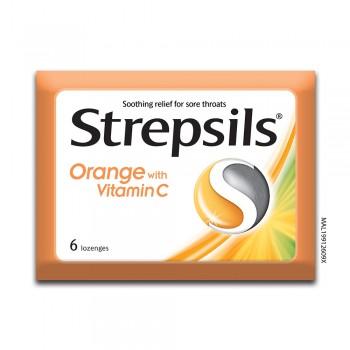 Strepsils Orange with Vitamin C 6s