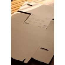 A4 Brown Box With Lid 25x34x26cm (Same function as IKEA Pappis BOX)