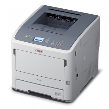 OKI B721dn A4 Mono Printer B700 Series Duplex, Network LED Printer - 45487002