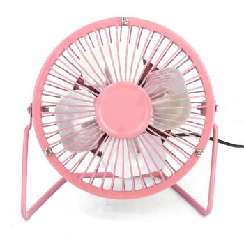 """4"""" Metal Mini Fan (Pink)"""
