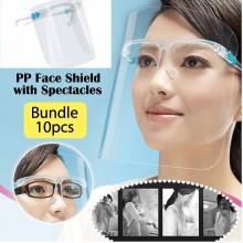 PP Face Shield with Spectacles Bundle (10pcs)