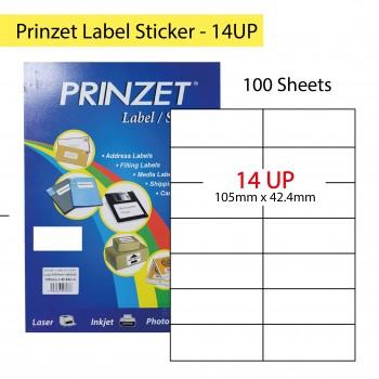 Prinzet Label Sticker 100sheets - 14UP