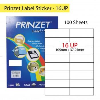 Prinzet Label Sticker 100sheets - 16UP
