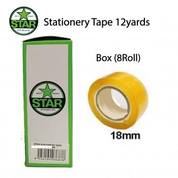 Stationery Tape 18mmX12yrds Box (8 Roll)