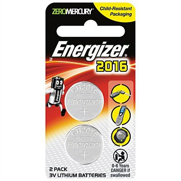 Energizer CR2016 Lithium Coin Battery (2pcs)