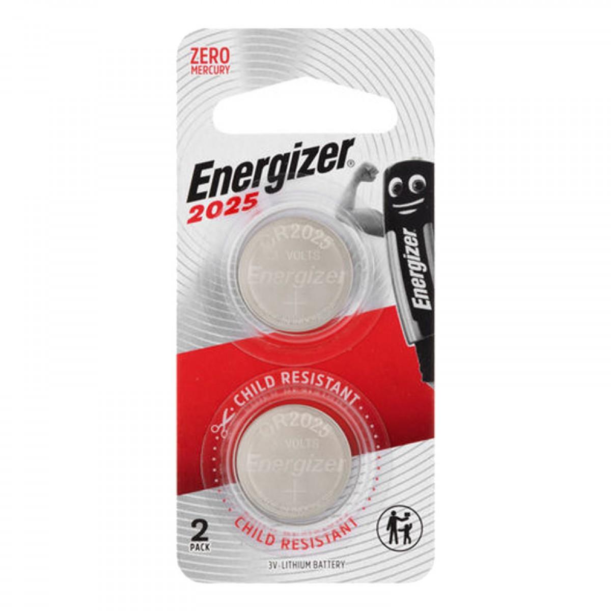 Energizer CR2025 3V Lithium Battery 2 Pack