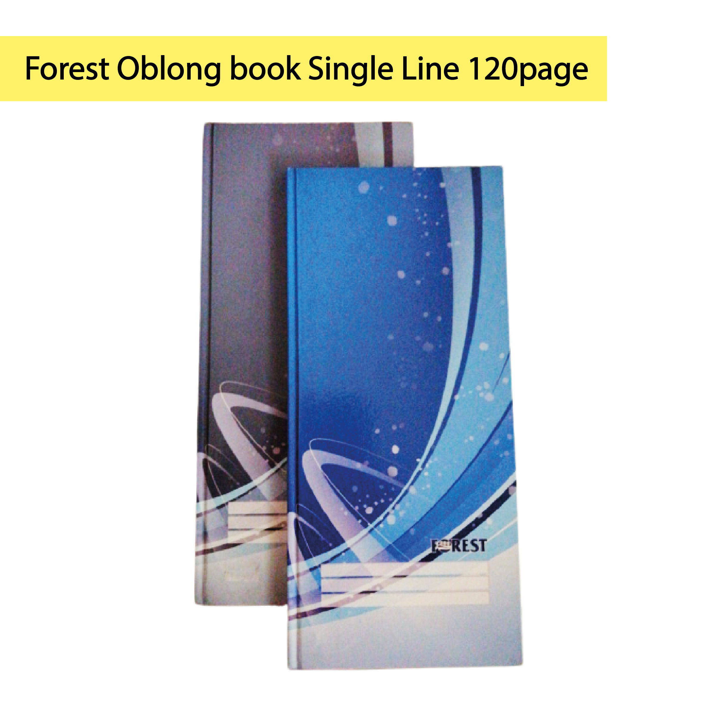 Forest Oblong book Single Line 120page (CF7118)