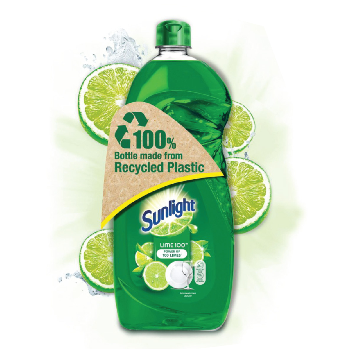 Sunlight Dishwashing Liquid Lime 100 - 900ml