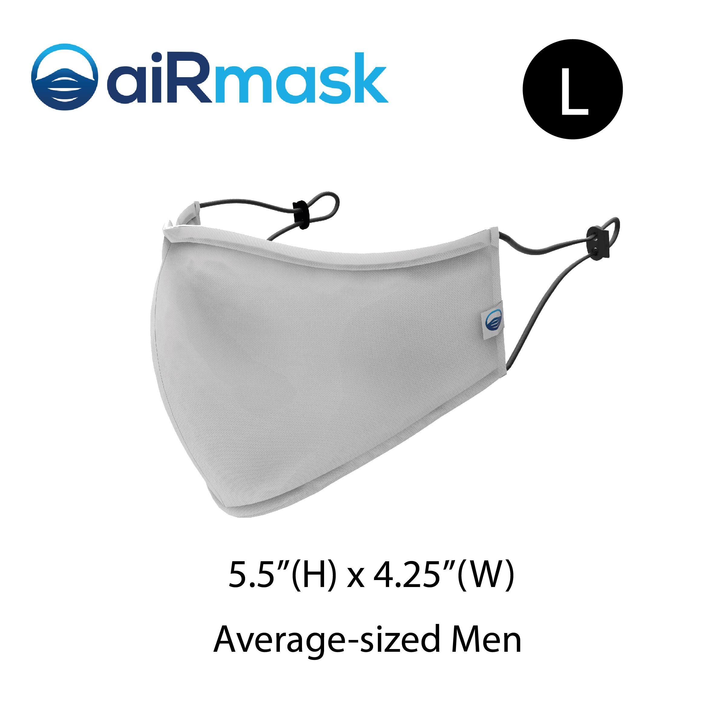 aiRmask Nanotech Cotton Mask White (L)