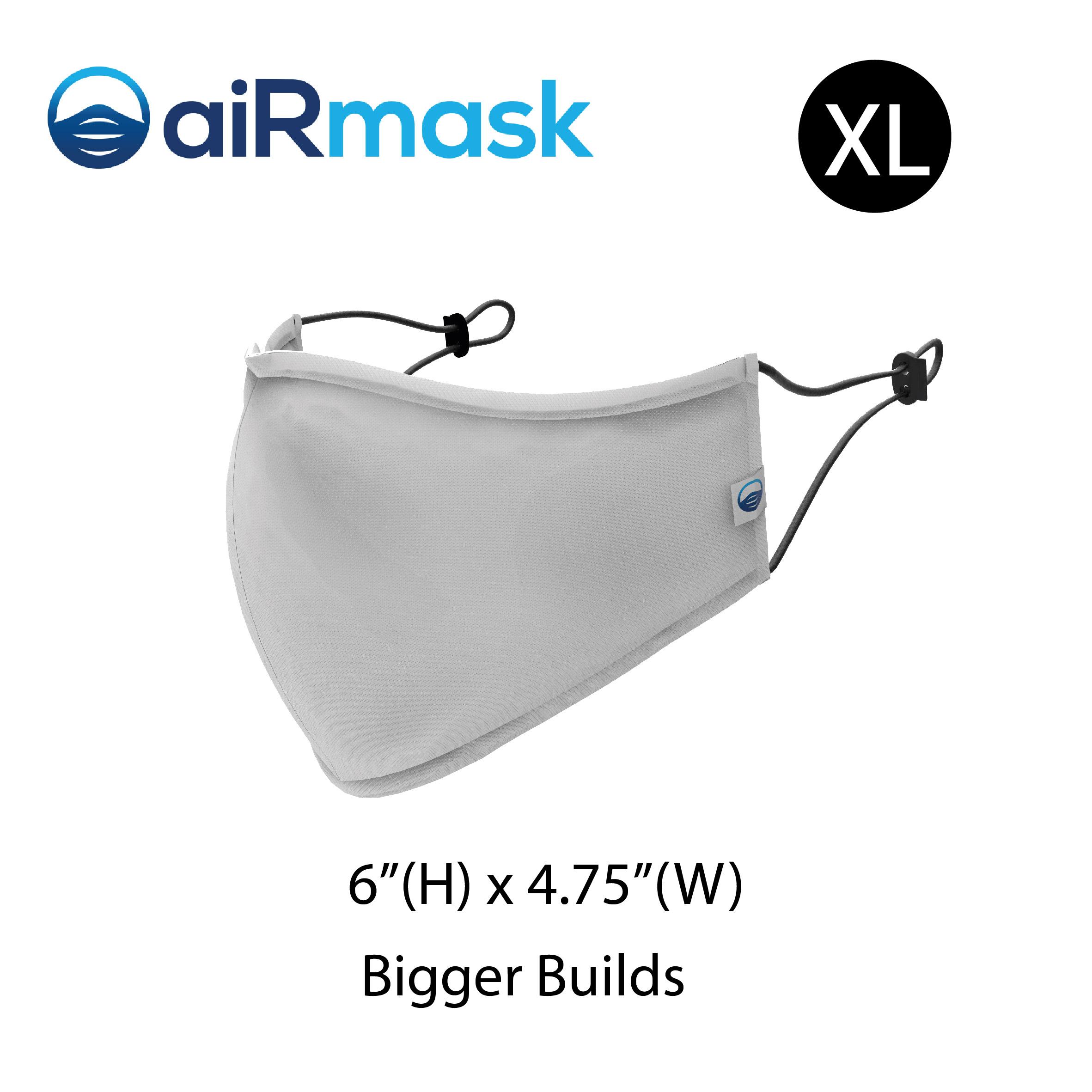 aiRmask Nanotech Cotton Mask White (XL)