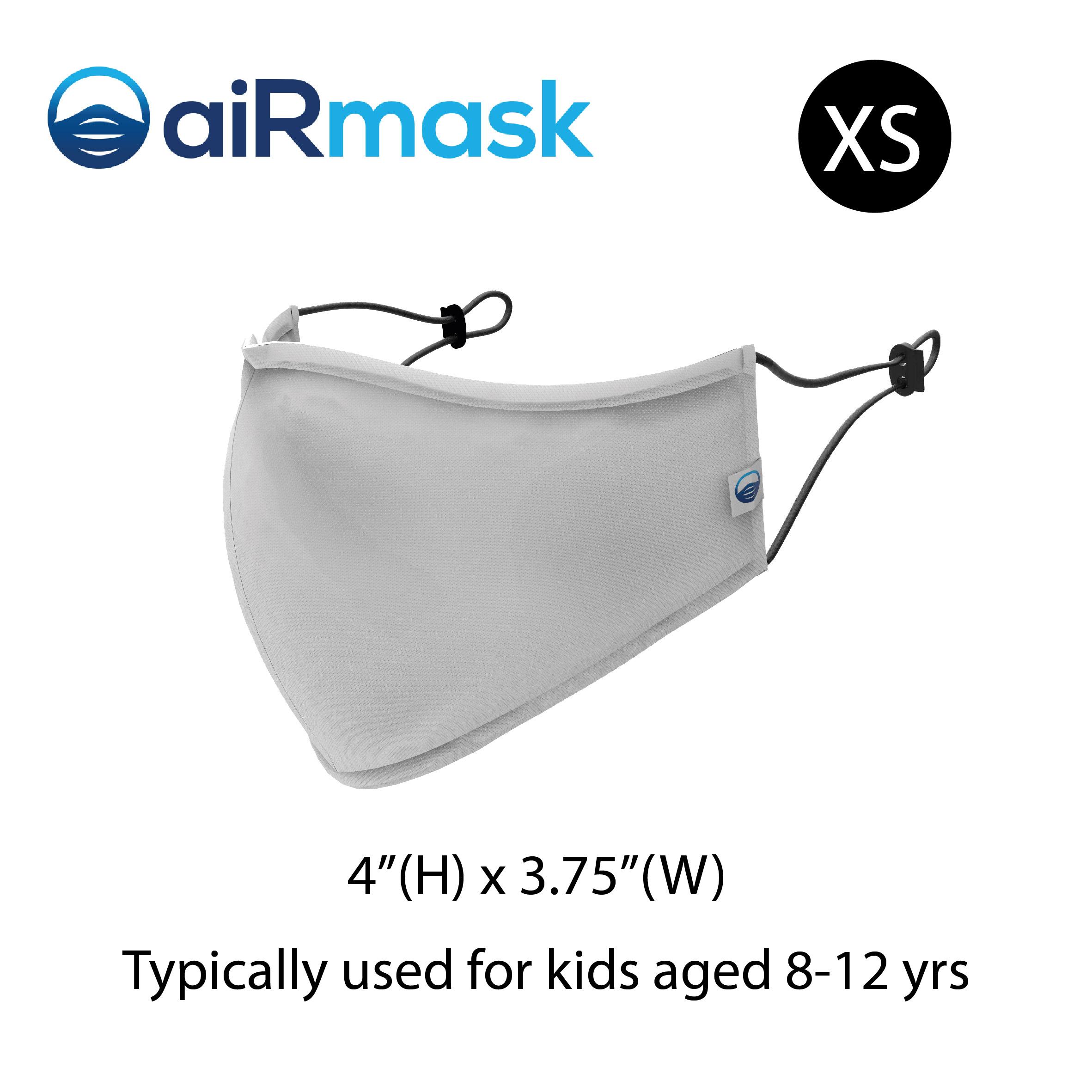 aiRmask Nanotech Cotton Mask White (XS)
