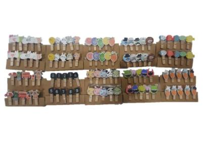 Cute Colorful Wooden Clips (10pcs/pkt)